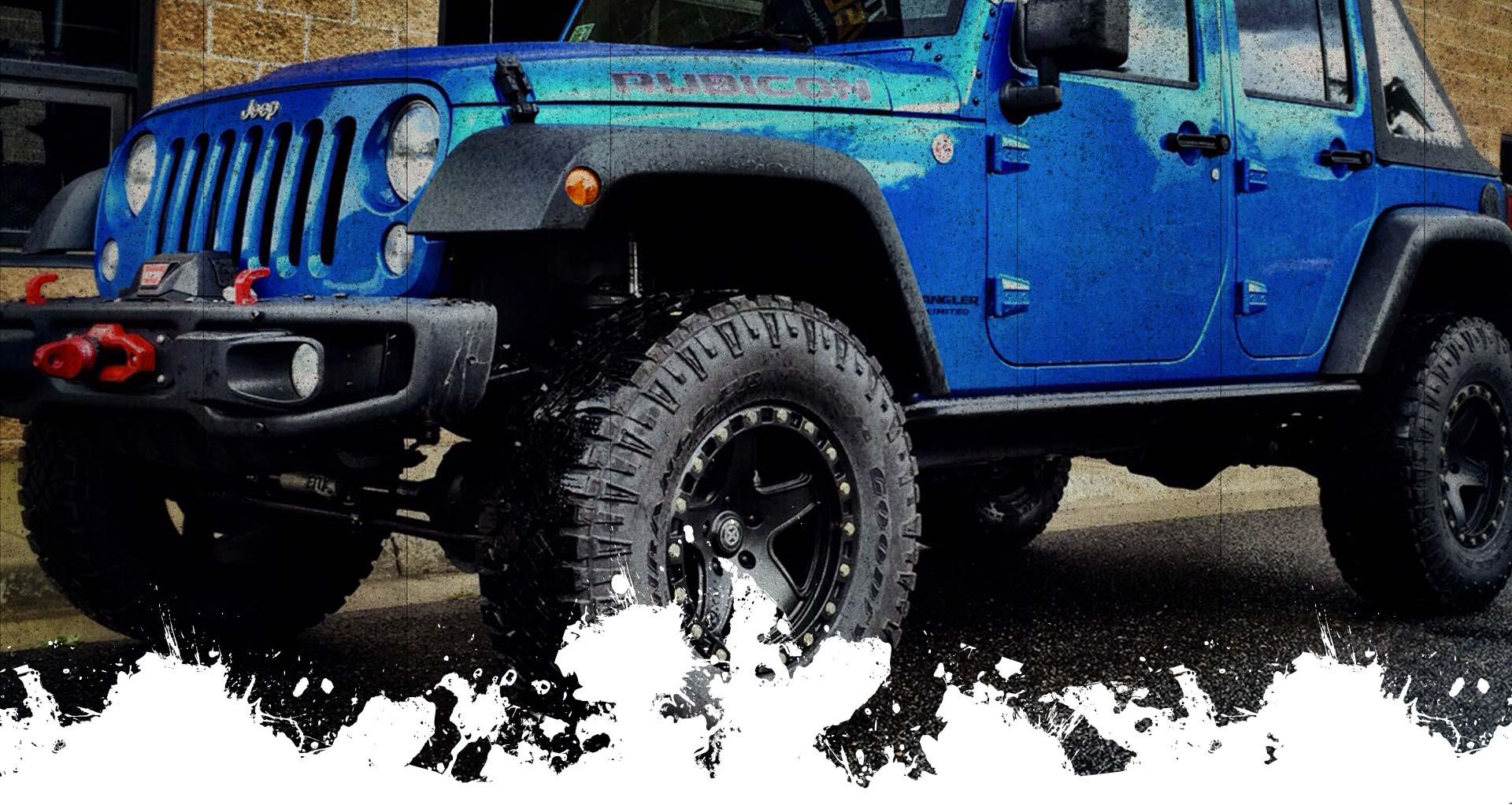 Assetto omologato Jeep Wrangler Jk con paraurti