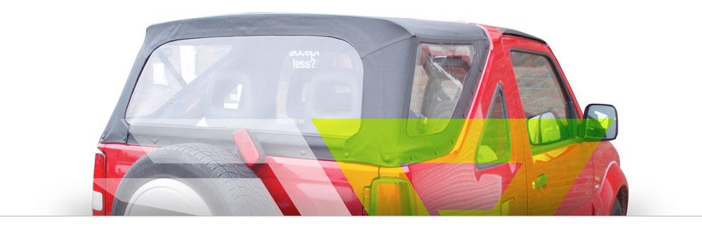 a Cappottina per Suzuki Jimny è anticondensa e impermeabile di alta qualità